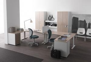 scrivania operativa con allungo