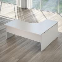 blocco scrivania operativa legno bianca