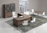 scrivania direzionale a L stondata
